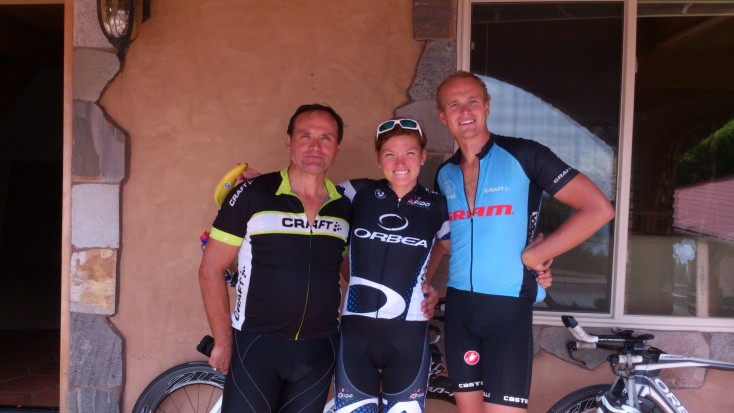 Biking (and banana-eating) with legends like Klaus Heidegger...and Filip Hakestam