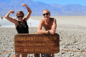 Death Valley National Park and salt desert