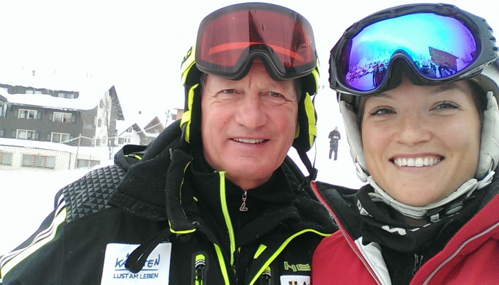 I got to measure my skiing ability with this living legend. Of course, I didn't have a chance.
