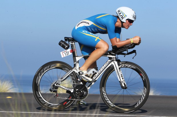 11th Asa LUNDSTROM (SWE) on the bike portion of the 2015 GoPro Ironman World Championship in Kailua-Kona,HI on October 10, 2015