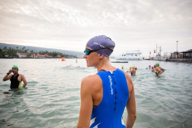 As the gun went off, I was separated from the group I intended to swim with by a surfer who had circled in front of us to keep us being the start line. Bad luck, but there was way I would be able to catch those fast feet once I had lost them. Photo: Gines Diaz